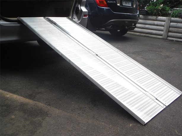 Aluminium Bi-Folding 6ft Ramp for Mobility Scooter Transportation